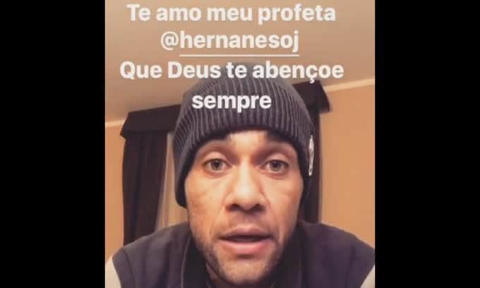 Dani Alves, messaggio a Hernanes: «Ti amo mio profeta»