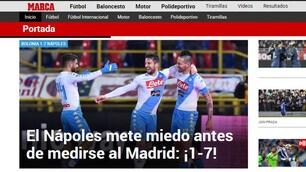 Napoli show sui siti spagnoli: «Fa paura a 10 giorni dal Real Madrid»