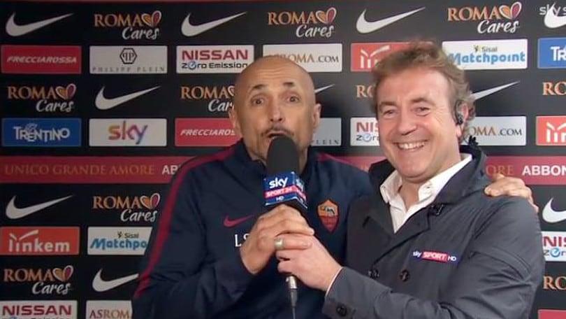 Roma, Spalletti irrompe in diretta: «Famo 'sto stadio!». Totti: «Vogliamo il nostro Colosseo»
