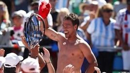 Coppa Davis, festa Fognini: che spogliarello a Buenos Aires!
