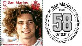 MotoGp: a San Marino un francobollo per Simoncelli