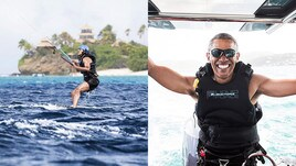 Obama ora se la spassa: kitesurf alle Isole Vergini