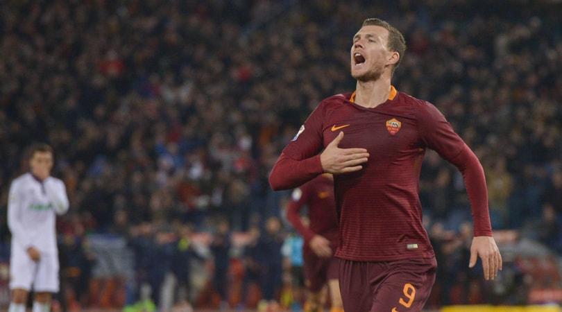 Serie A, Roma-Fiorentina 4-0: doppio Dzeko e gol di Fazio e Nainggolan