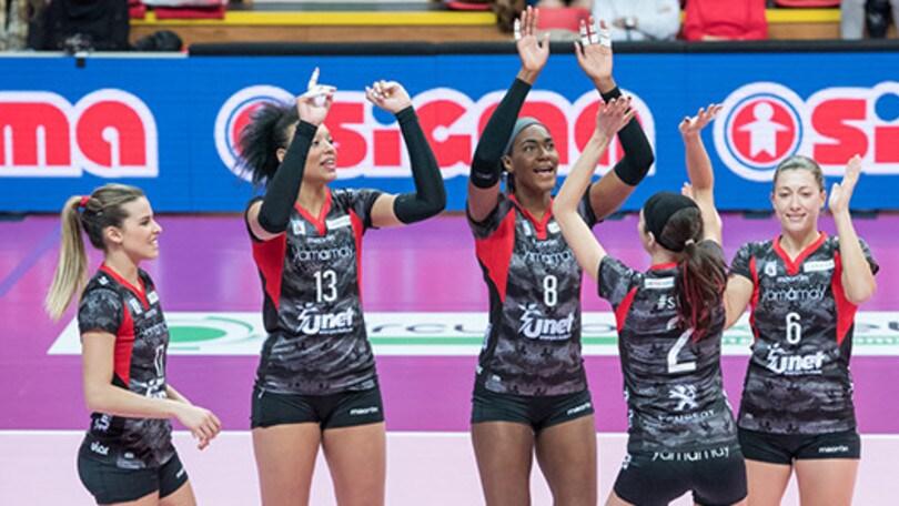 Volley: Cev Femminile, stasera in campo Pomì e UYBA