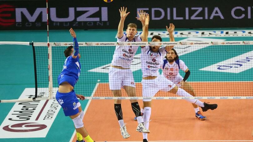 Volley: A2 Maschile Pool Salvezza, Potenza Picena vince al tie break