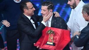 Sanremo, che trionfo per Gabbani: Mannoia seconda