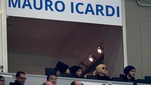 Icardi squalificato, tifa l'Inter con Wanda Nara in tribuna