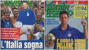 La leggenda Baggio sulle copertine del Guerin Sportivo