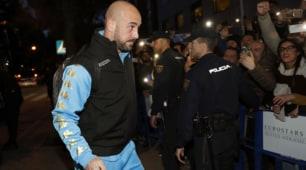 Champions, ci siamo: il Napoli è arrivato a Madrid