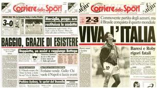 «Baggio, grazie di esistere». Il mito di Roby sul Corriere dello Sport-Stadio