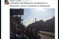Messina, crisi societaria: Lucarelli e squadra protestano nei cantieri Stracuzzi