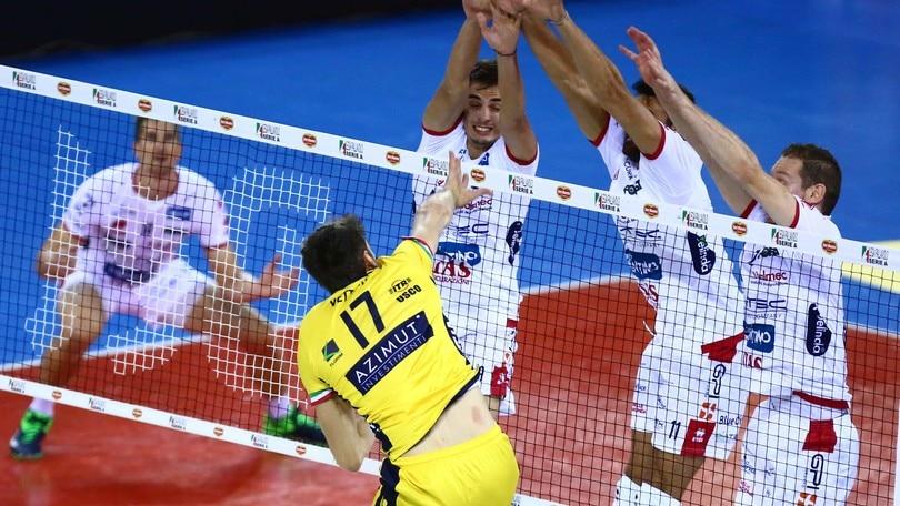 Volley: Superlega, Trento-Modena: si gioca per il secondo posto