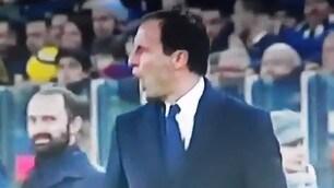Juventus-Palermo: battibecco tra Allegri e Bonucci
