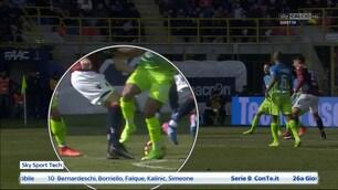 Bologna-Inter, contatto Eder-Dzemaili ma per Mazzoleni non è rigore