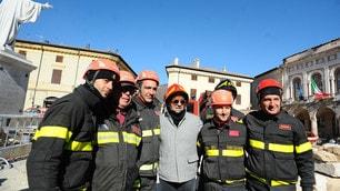 Baggio, compleanno a Norcia: visita il centro storico distrutto