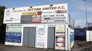 FA Cup, Sutton-Arsenal: un piccolo stadio per una grande sfida