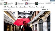La Reggiana finisce sul New York Times con Piazza