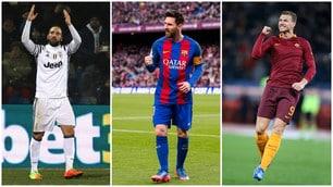 Scarpa d'oro, che duello tra Higuain, Messi e Dzeko!