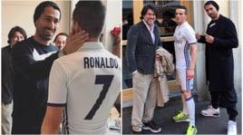 Borriello, Carnevale in anticipo con il sosia di Cristiano Ronaldo