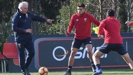 Genoa, primo allenamento per Mandorlini: domenica c'è il Bologna