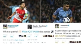 Manchester City-Monaco, spettacolo social: Reina e Marchisio esaltati