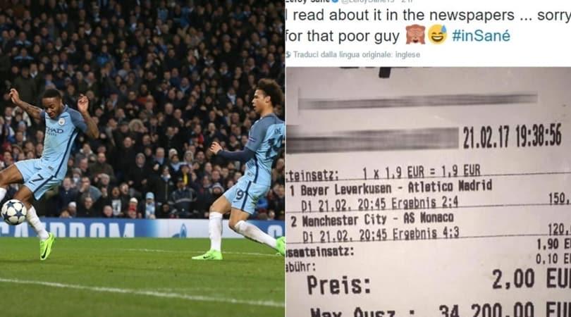 Perde 34mila euro per il gol di Sané: gli chiede i soldi sui social
