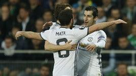 Saint Etienne-Manchester United 0-1, Mourinho agli ottavi