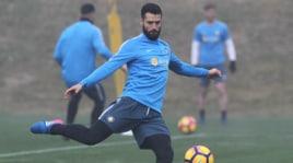 L'Inter si allena nella nebbia verso la Roma
