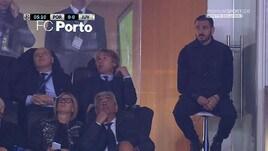Bonucci in tribuna a Oporto, i social si scatenano