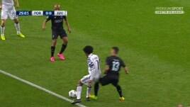 Porto-Juventus, Telles espulso: la fotosequenza dei due falli