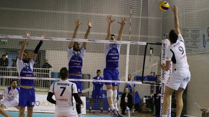 Volley: A2 Maschile Pool Salvezza, Montecchio batte Potenza Picena in rimonta