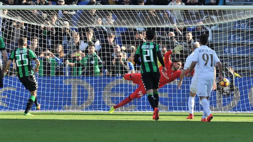 Serie A Sassuolo-Milan 0-1, il tabellino