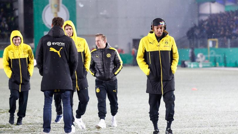 Troppa neve, partita rinviata per il Borussia Dortmund