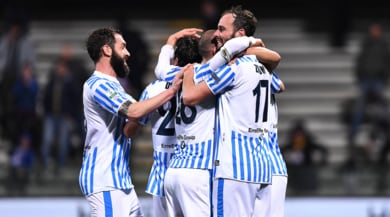 Serie B, la Spal a un punto dal Frosinone. Benevento ko col Novara