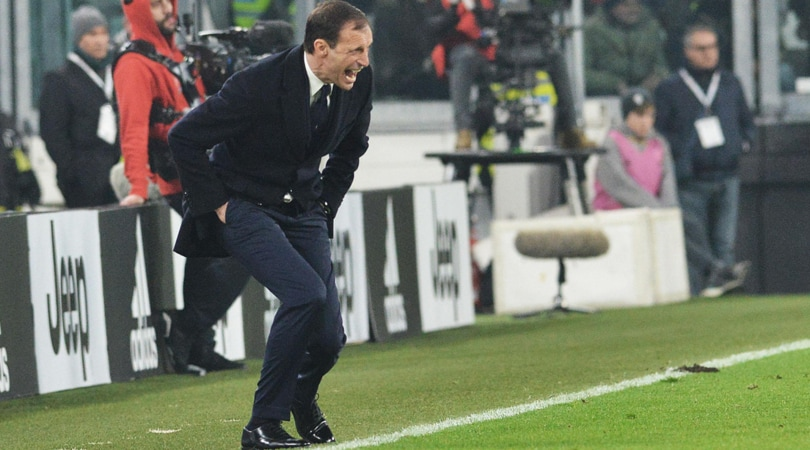 Juventus, Allegri: «Dal campo mi sembravano entrambi rigori»