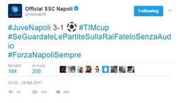 Napoli, attacco alla Rai: «Tifosi, guardate le partite senza audio»
