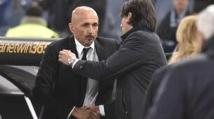 Derby Coppa Italia: l'abbraccio tra Inzaghi e Spalletti prima del match