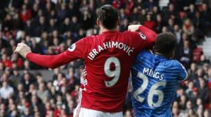 Manchester United-Bournemouth, colpi proibiti Ibrahimovic-Mings