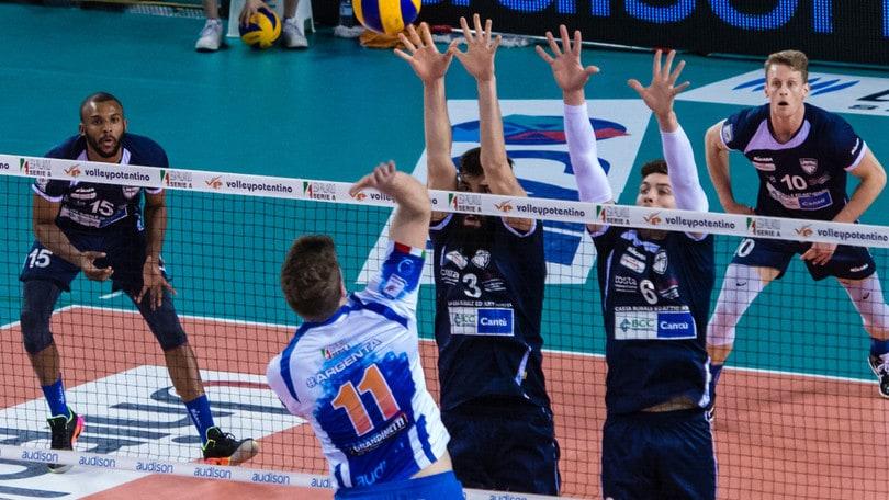 Volley: A2 Maschile Pool Salvezza, Cantù la spunta al tie break sul campo di Potenza Picena