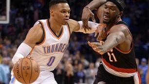 Westbrook ferma San Antonio, Cavaliers ancora ko