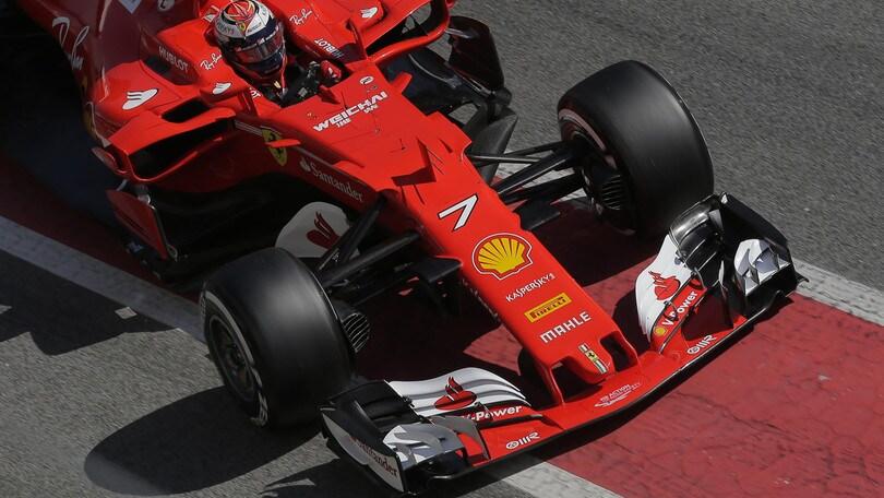 F1, test a Barcellona: Ferrari super, Raikkonen al comando