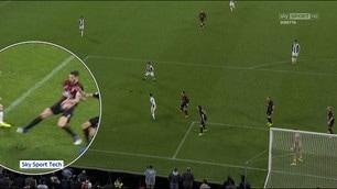 Il rigore per la Juventus che ha fatto infuriare il Milan