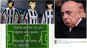 Ironia Social: lo sfottò dei tifosi della Juventus e la risposta milanista