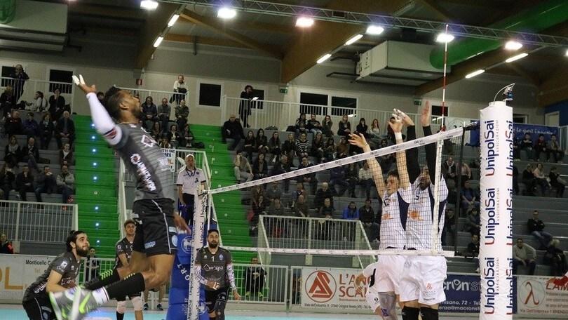 Volley: A2 Maschile Pool Salvezza, Alessano a Montecchio vince al tie break