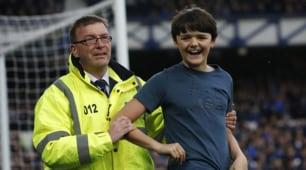 Everton-West Brom 3-0 e il ragazzino esulta con la squadra