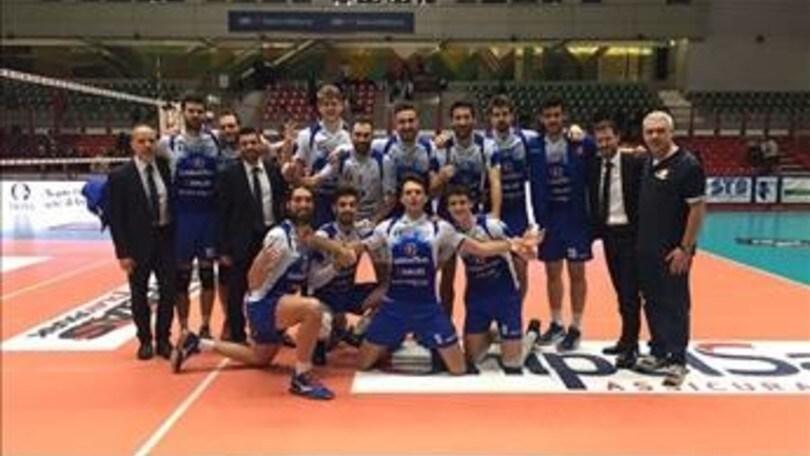 Volley: A2 Maschile Pool Salvezza, Potenza Picena batte ancora Brescia al quinto