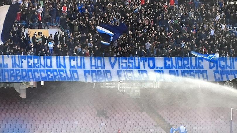 Quagliarella:«Lo striscione dei tifosi del Napoli? Ci ho fatto un poster»