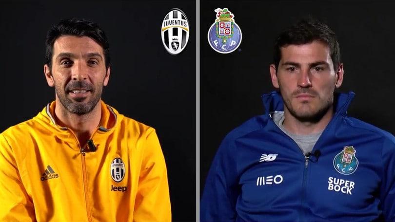 Juventus-Porto, Buffon scherza con Casillas: «Martedì passiamo noi»