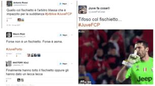 Juventus-Porto: il fischietto del tifoso fa impazzire i social