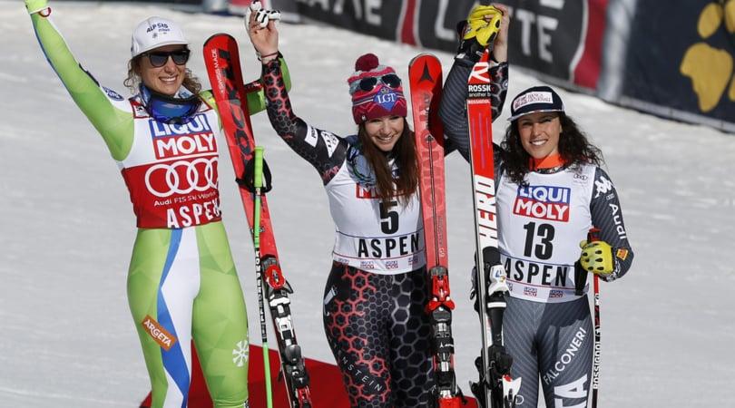 Sci, finali Cdm: Brignone terza nel SuperG di Aspen